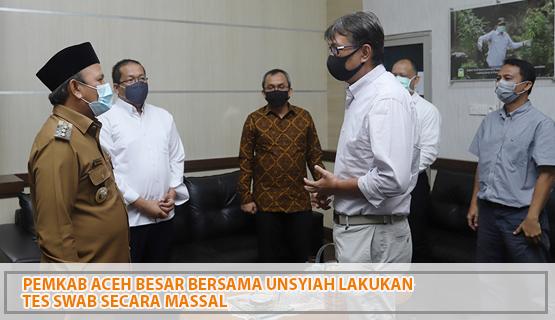 Pemkab Aceh Besar Bersama Unsyiah Lakukan Tes Swab   Secara Massal