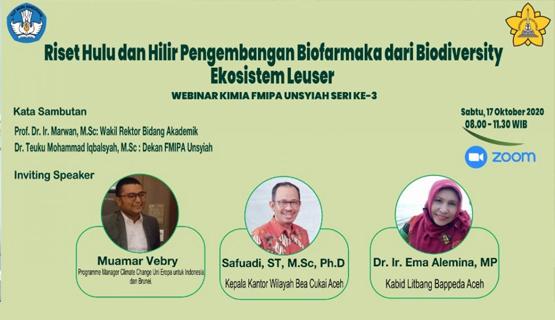 FMIPA Unsyiah Kaji Pengembangan Biofarmaka dari Biodiversity Leuser