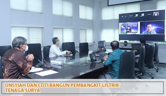 Unsyiah dan CDTI Bangun Pembangkit Listrik Tenaga Surya