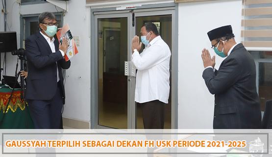 Gaussyah Terpilih Sebagai Dekan FH USK Periode 2021-2025