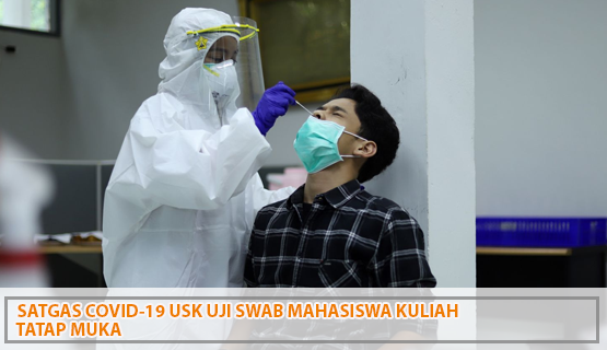 Satgas Covid-19 USK Uji Swab Mahasiswa Kuliah Tatap Muka
