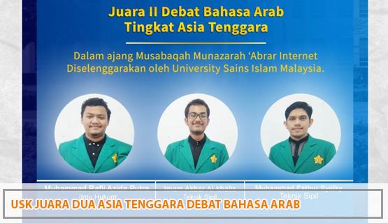 USK Juara Dua Asia Tenggara Debat Bahasa Arab