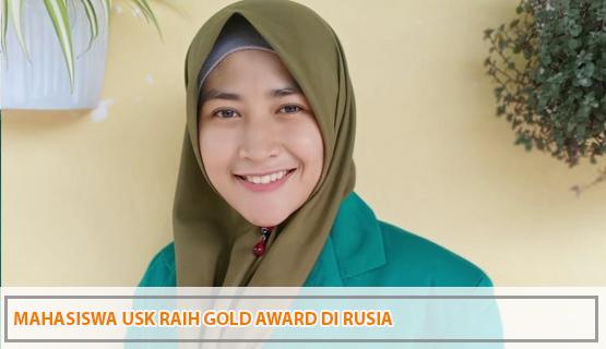 Mahasiswa USK Raih Gold Award Di Rusia