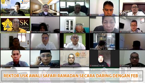 Rektor USK Awali Safari Ramadan Secara Daring dengan FEB