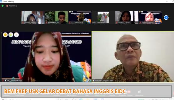 BEM FKep USK Gelar Debat Bahasa Inggris EIDC