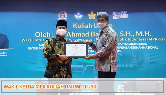 Wakil Ketua MPR Kuliah Umum di USK