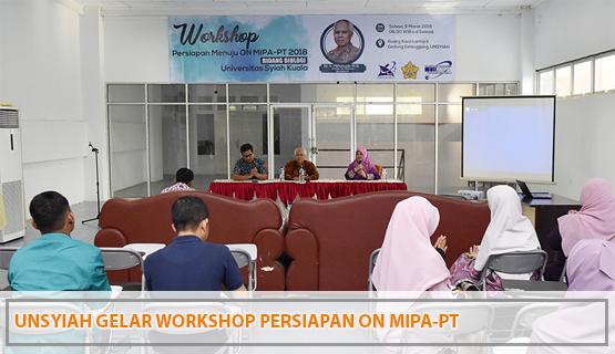Unsyiah Gelar Workshop Persiapan ON MIPA-PT