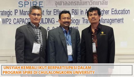 Unsyiah kembali ikut berpartisipasi dalam program SPIRE di Chulalongkorn University