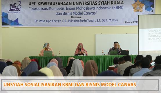 Unsyiah Sosialisasikan KBMI dan Bisnis Model Canvas
