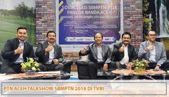 PTN Aceh Talkshow SBMPTN 2018 di TVRI