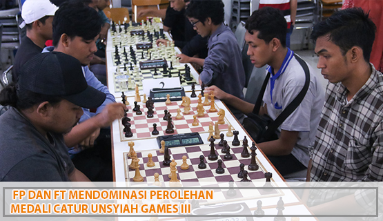 FP dan FT Mendominasi Perolehan Medali Catur Unsyiah Games III