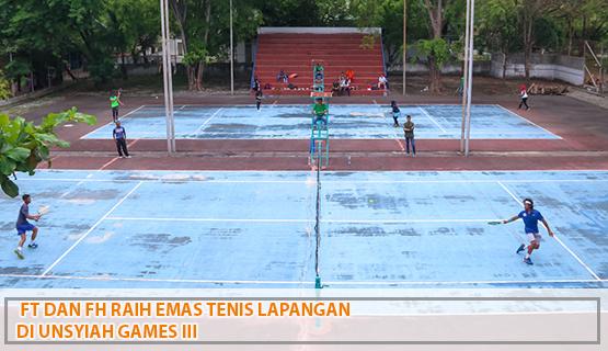 FT dan FH Raih Emas Tenis Lapangan di Unsyiah Games III