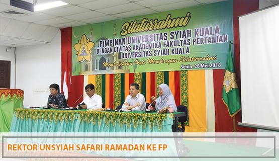 Rektor Unsyiah Safari Ramadan ke Fakultas Pertanian