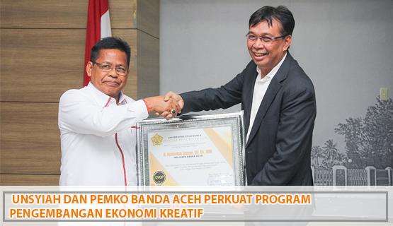 Unsyiah dan Pemko Banda Aceh  Perkuat Program Pengembangan Ekonomi kreatif