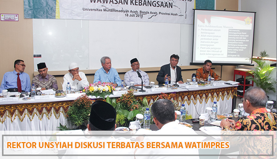 Rektor Unsyiah Diskusi Terbatas Bersama Watimpres