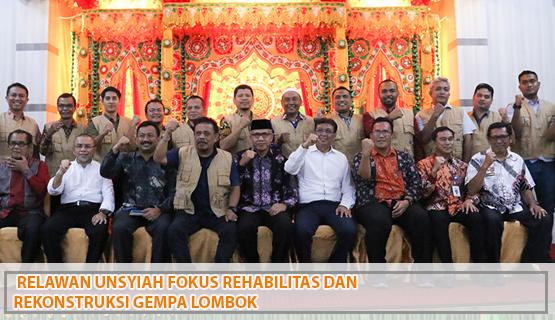 Relawan Unsyiah Fokus Rehabilitas dan Rekonstruksi Gempa Lombok