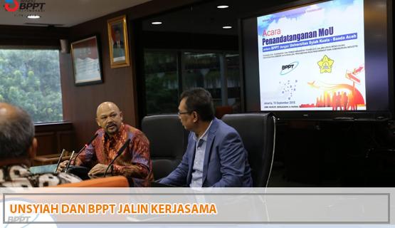 Unsyiah dan BPPT Jalin Kerjasama