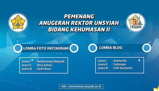 Pemenang Lomba Anugerah Humas Rektor Unsyiah 2018