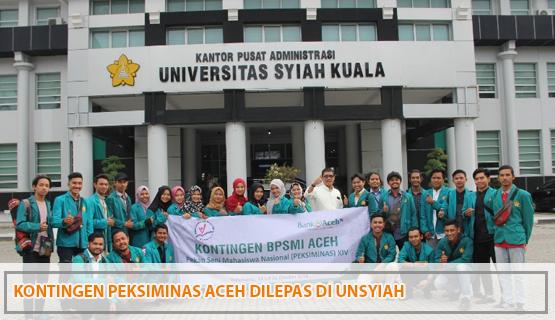 Kontingen Peksiminas Aceh Dilepas di Unsyiah