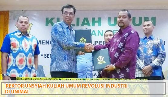 Rektor Unsyiah Kuliah Umum Revolusi Industri di Unimal