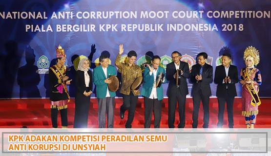 KPK Adakan Kompetisi Peradilan Semu Anti Korupsi di Unsyiah