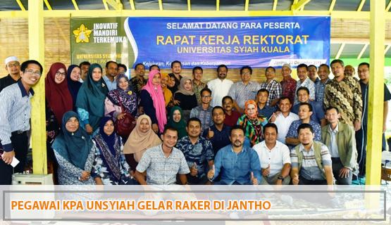 Pegawai KPA Unsyiah Gelar Raker di Jantho