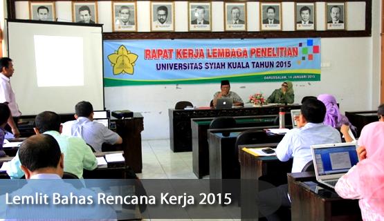 Lemlit Bahas Rencana Kerja 2015