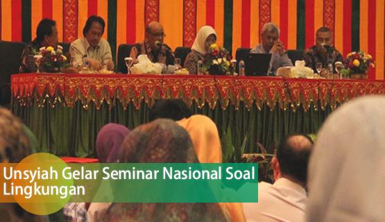 Unsyiah Gelar Seminar Nasional Soal Lingkungan