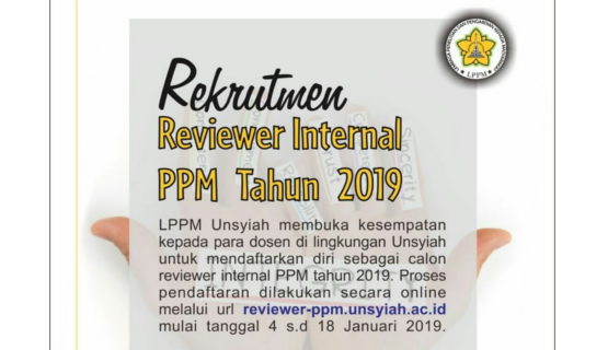 Rekrutmen Reviewer Internal PPM Tahun 2019