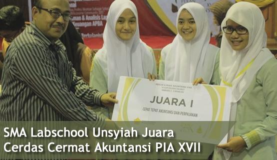 SMA Labschool Unsyiah Juara Cerdas Cermat Akuntansi PIA XVII